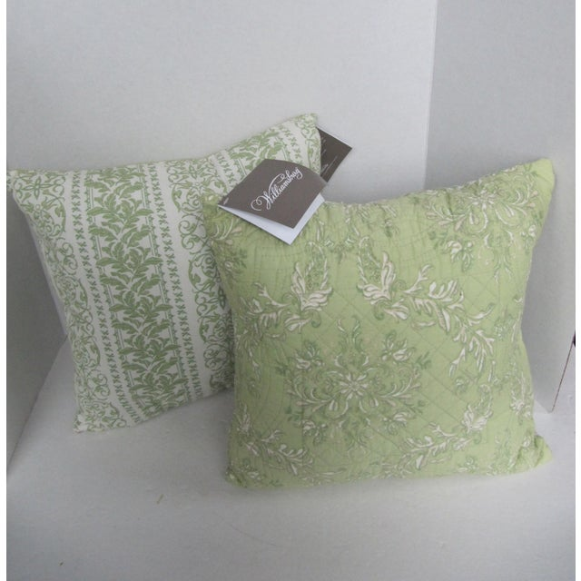 2000s Williamsburg Quilted Toile Pillows-2 Pieces For Sale - Image 5 of 5