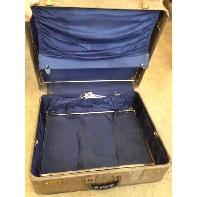 Vintage 1950s Tan Suitcase - Image 4 of 5