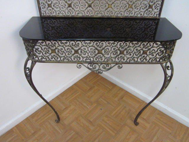 Lovely Art Deco Console Table with Matching Mirror Attributed to