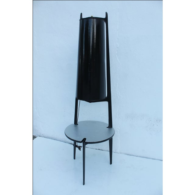 Black Mid Century Modern Adrian Pearsall Table Lamp For Sale - Image 8 of 10