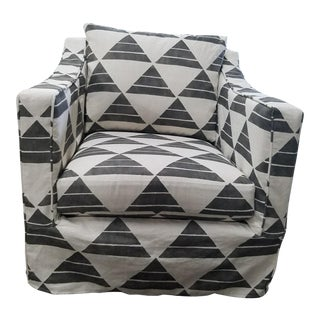 Contemporary Upholstered Swivel Rocker