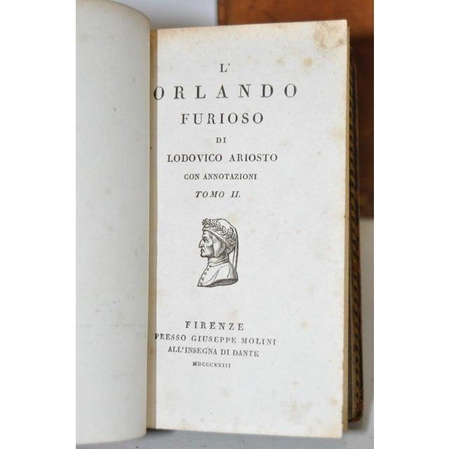 """Circa 1823 Ludovico Ariosto """"L' Orlando Furioso"""" Vol 1 & 2 For Sale - Image 4 of 6"""
