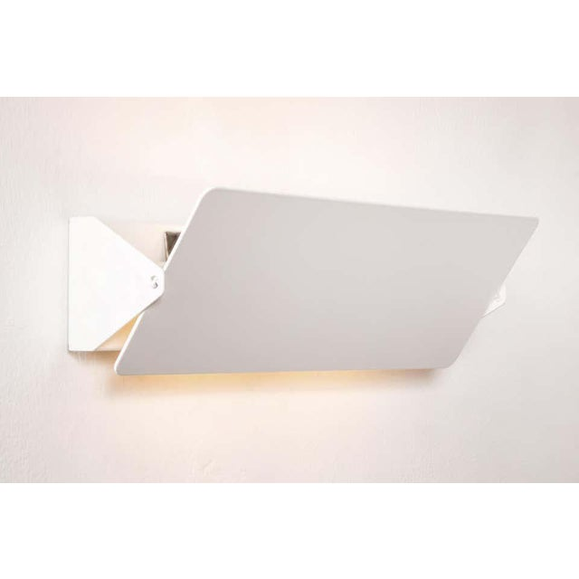 Large Charlotte Perriand 'Applique à Volet Pivotant Double' Wall Lights in White For Sale - Image 11 of 13