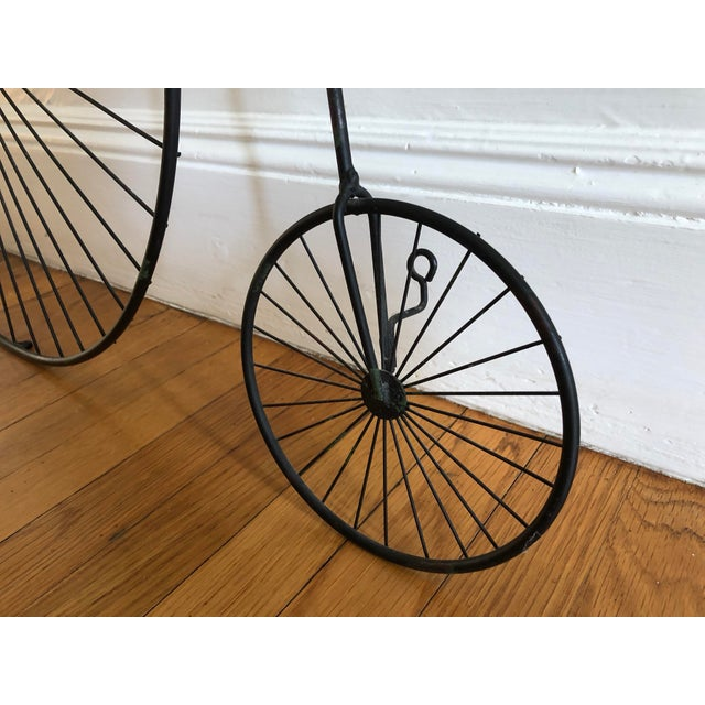 Black 1980s Curtis Jere Bicycle 'Highwheeler' Signed Table / Wall Sculpture For Sale - Image 8 of 13