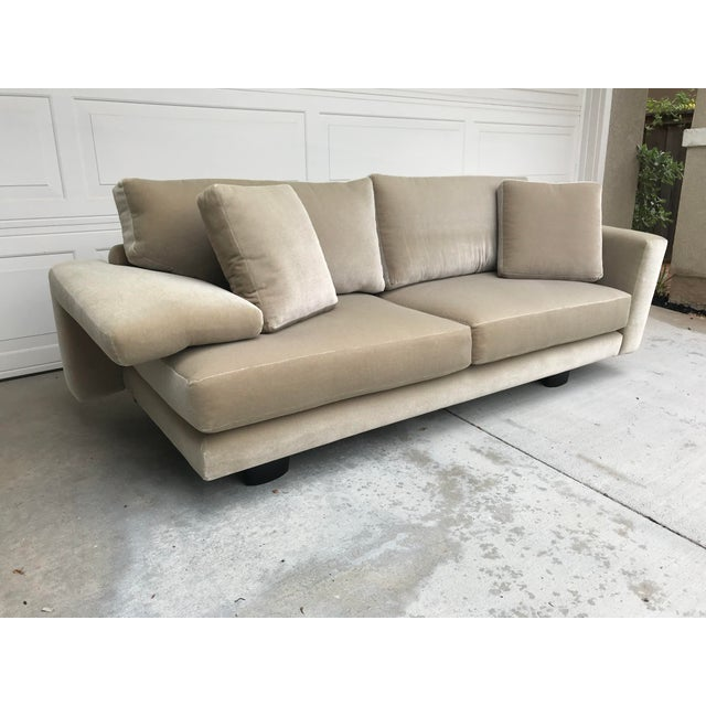 Mauro Lipparini for Saporiti Italia Mohair Sofa For Sale - Image 10 of 10