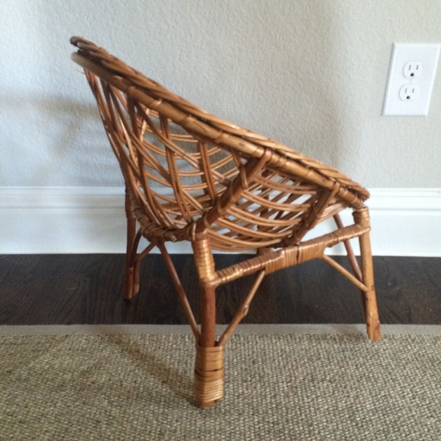 Vintage Child's Wicker Chair - Image 5 of 6