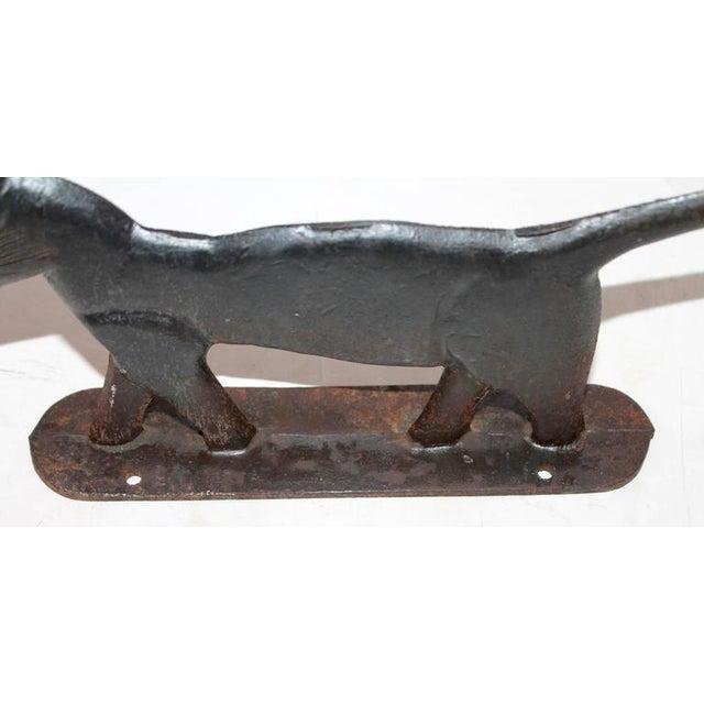 19th Century Cast Iron Cat Boot Scraper - Image 4 of 7