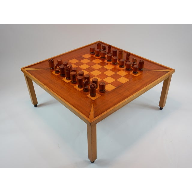 Mid-Century Modern Vintage Mid-Century Modern Chess / Game Table by Lane For Sale - Image 3 of 11