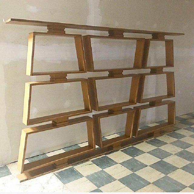 Mid-Century Wood Room Divider / Shelves For Sale - Image 4 of 5