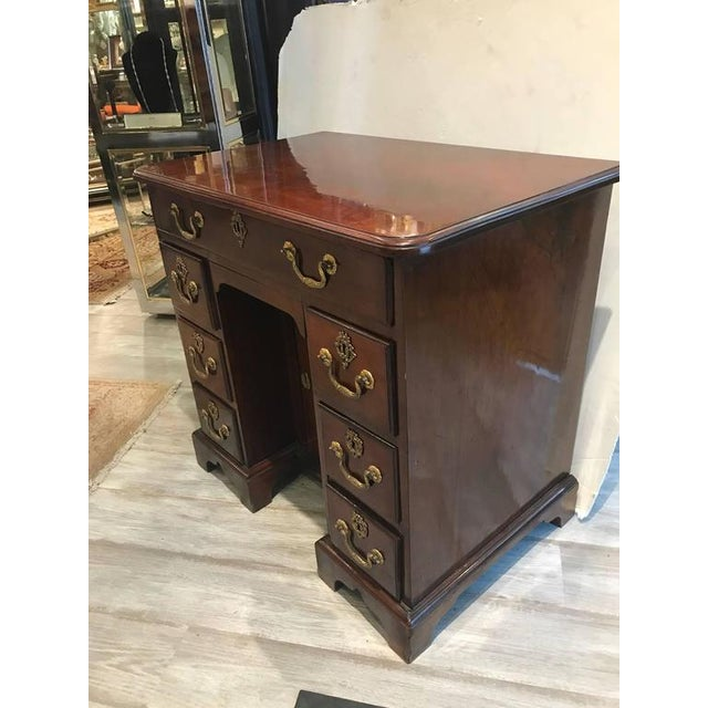 Late 18th Century George III Mahogany Kneehole Desk For Sale - Image 5 of 6