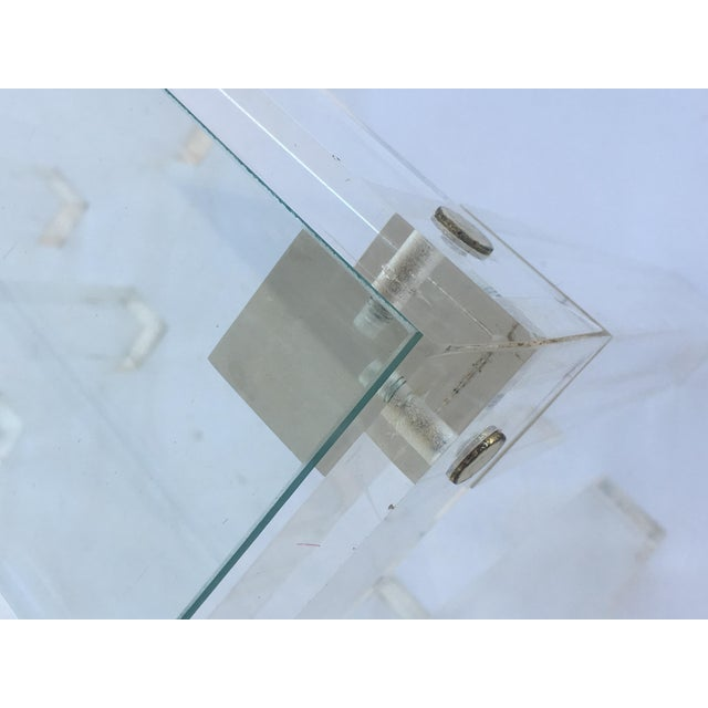 Set of Vintage Lucite and Glass Nesting Tables For Sale - Image 9 of 10