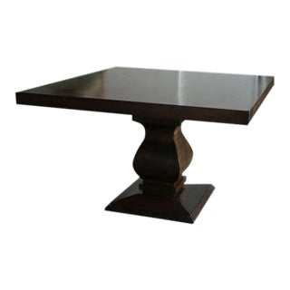 "Custom-Made 48"" Square Solid Alder Dining Table For Sale"
