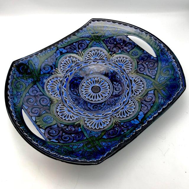 African Vintage Safi Moroccan Terra Cotta Platter For Sale - Image 3 of 8