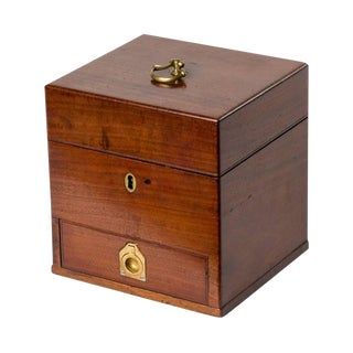 19th Century Mahogany Box With Drawer For Sale