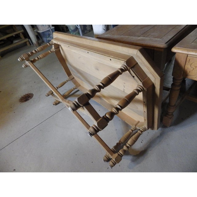 Henredon Rustic Country Coffee Table For Sale - Image 6 of 11
