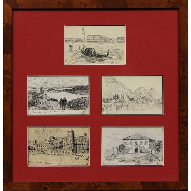 Postcard Drawings From Italy For Sale