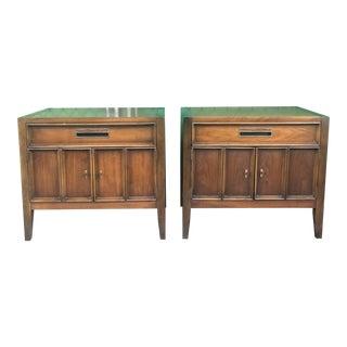 1960s Mid Century Modern Drexel Walnut Nightstands - a Pair For Sale