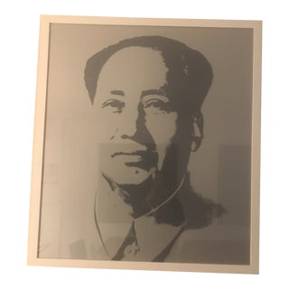 1960s Vintage Andy Warhol Mao Silver Sunday B. Morning Silk Screen Print For Sale