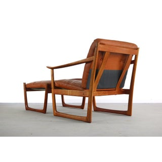 Peter Hvidt & Orla Mølgaard Nielsen Fd-130 Teak Lounge Chair and Ottoman for France and Son, Denmark Preview