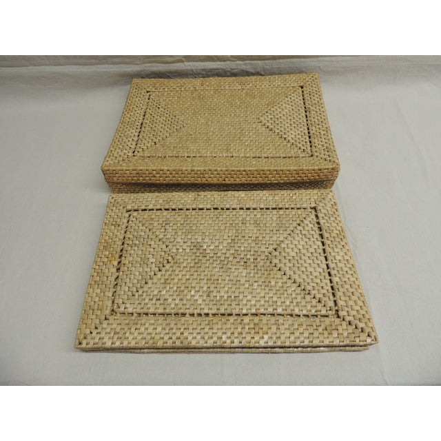 Vintage Seagrass Placemats - Set of 4 - Image 2 of 4