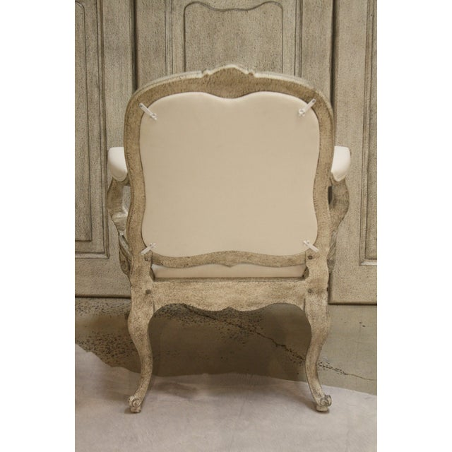 Traditional Swedish Curvy Rococo Occasional Armchair For Sale - Image 3 of 5