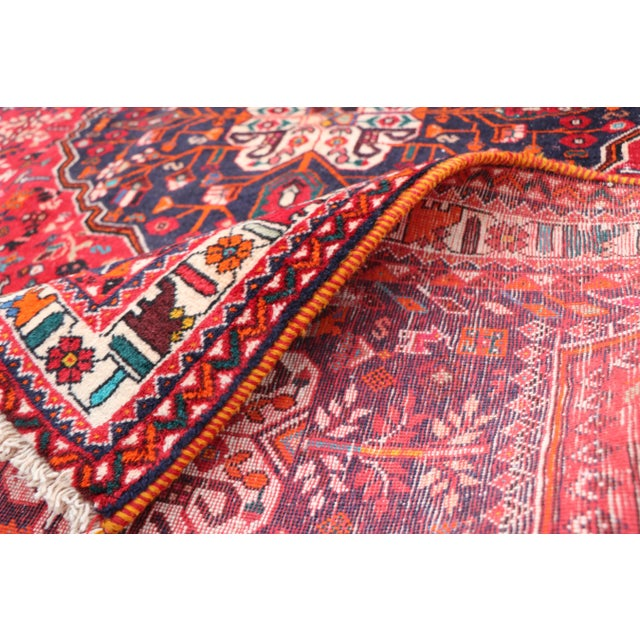 "1970's Persian Qashqai Area Rug-6'4'x9'4"" For Sale - Image 9 of 10"