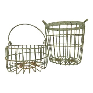 Rustic Wire Egg Baskets For Sale