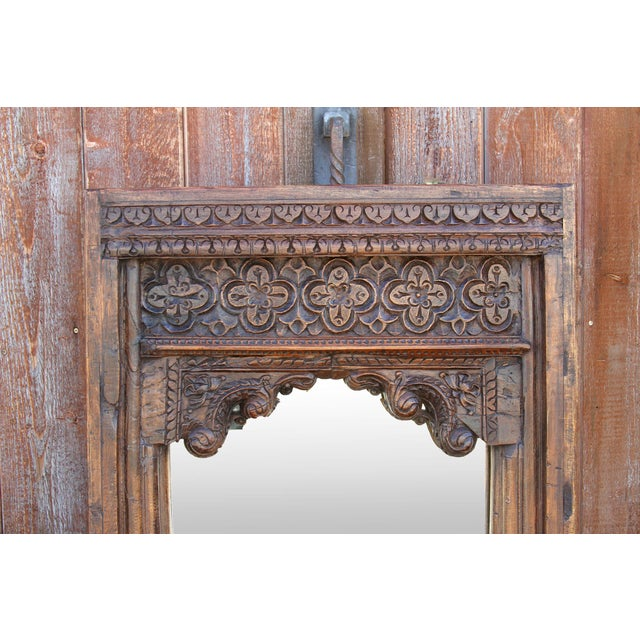 Beautiful Old Hindaun Jarokha Carved Mirror For Sale - Image 4 of 11