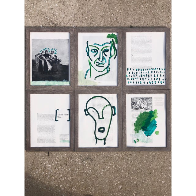 """2020s """"A Self-Made Man,"""" Set of 6 Acrylic Paintings For Sale - Image 5 of 5"""