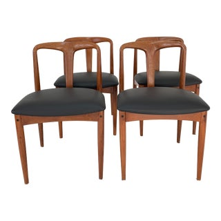 1960s Vintage Johannes Andersen Chairs- Set of 4 For Sale