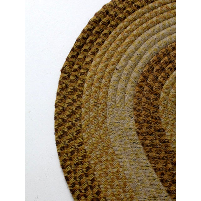 Vintage Braided Wool Accent Rug For Sale - Image 6 of 8