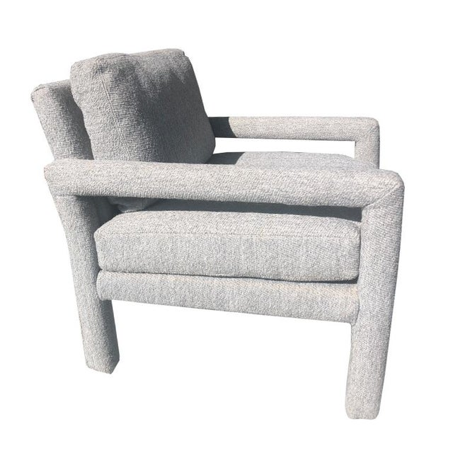 Parsons Drexel Contemporary Classics Midcentury Modern Club Chair in Original gray wool upholstery. Cushions are...