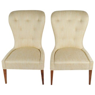 Modern Balloon Back Chairs- a Pair For Sale