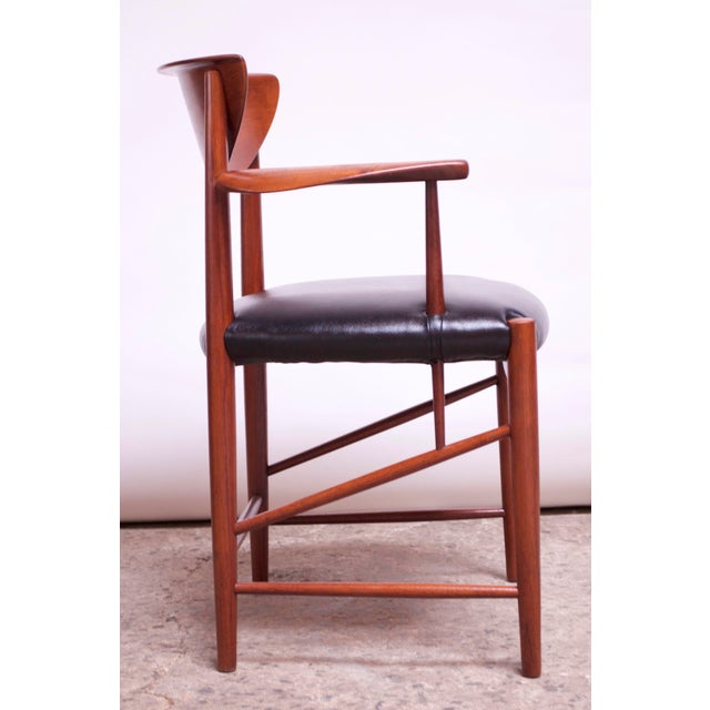 1950s Teak Dining Chairs by Peter Hvidt and Orla Mølgaard Nielsen - Set of 8 For Sale - Image 5 of 13