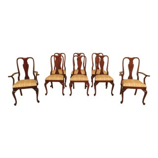 1990s Vintage Councill Craftsmen Style Queen Anne Mahogany Dining Room Chairs- Set of 8 For Sale