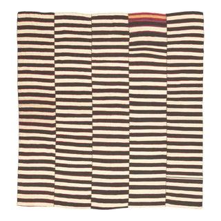 20th Century Vintage Kilim Composition Rug- 8′1″ × 8′7″ For Sale
