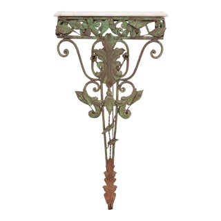 20th Century Dutch Iron and Marble-Top Console For Sale