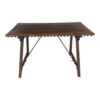 Late 19th Century Antique Spanish Folding Table
