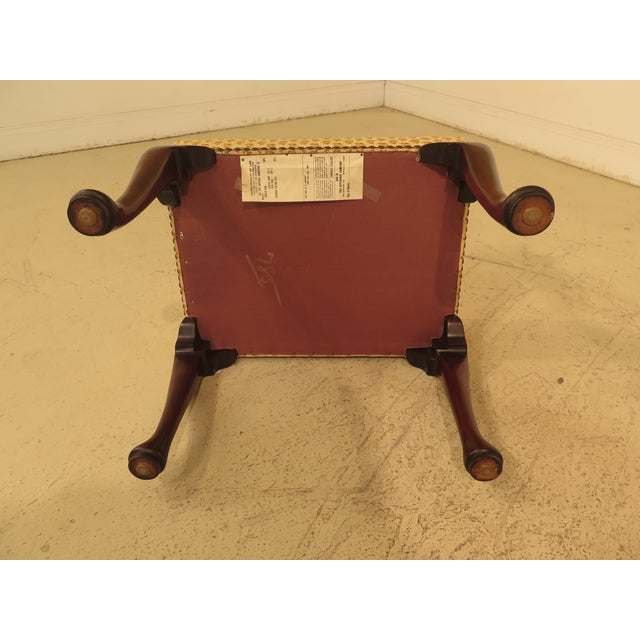 Mahogany Kittinger Cw-147 Colonial Williamsburg Mahogany Footstool / Ottoman For Sale - Image 7 of 11