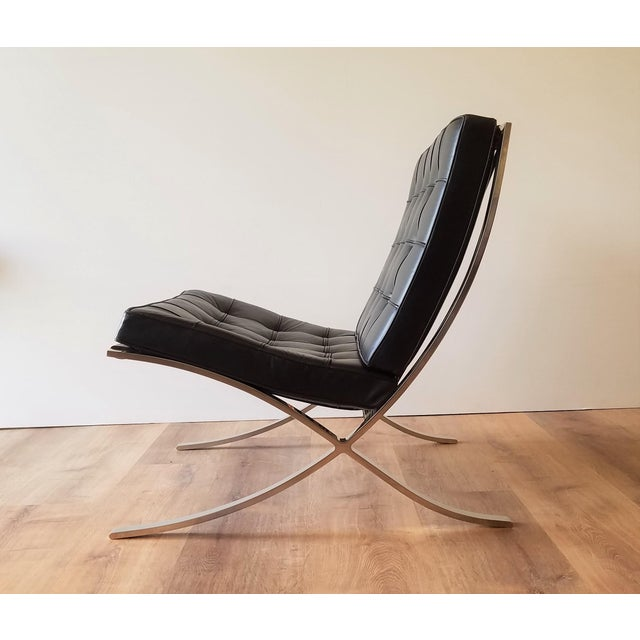 1970's Vintage Barcelona Chair by Knoll - a Pair For Sale In Seattle - Image 6 of 13