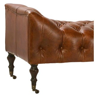 Tufted Chesterfield Leather Bench Preview