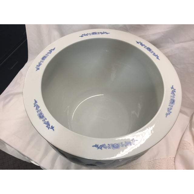 Ceramic Chinese Fish Bowl Jardiniere For Sale - Image 7 of 10