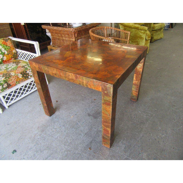 Paul Evans Style Copper Game Table For Sale In West Palm - Image 6 of 6