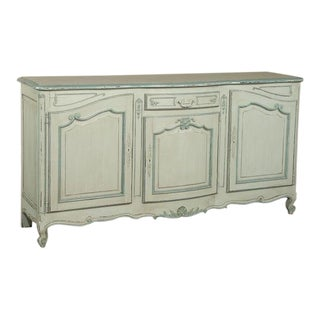 Antique Country French Painted Buffet For Sale
