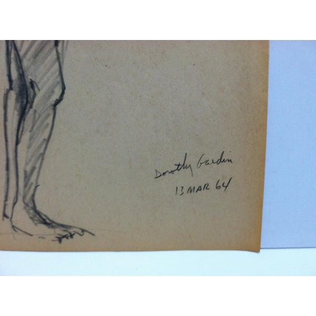 1958 Vintage Black Woman Leaning - Nude Tom Sturges Jr