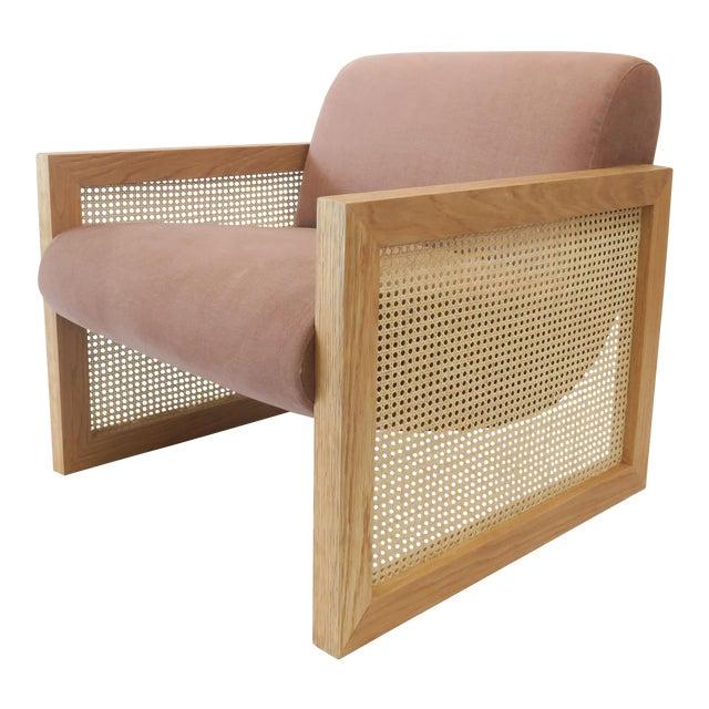 Custom Cane Armchair - Image 1 of 10