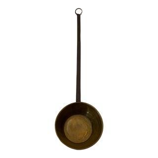Vintage Large Primitive Dipper With Brass Ladle Bowl For Sale