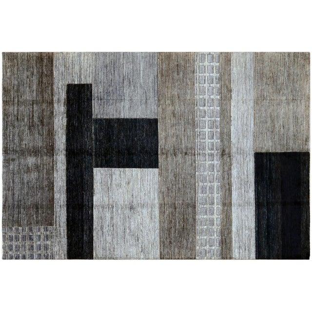 Monochrome Gabbeh Rug - 6′7″ × 9′7″ - Image 2 of 4