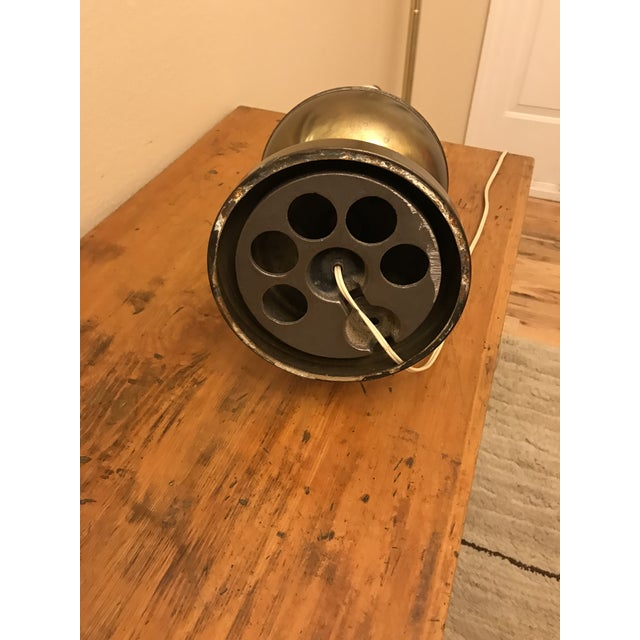 Mid 20th Century Steampunk Brass Table Lamp For Sale - Image 5 of 7