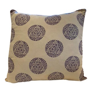 Madeline Weinrib Blockprint Pillow For Sale